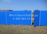 Винтовой забор из профлиста по цене от 1800 руб. за метр работы с материалом