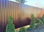 Забор из профнастила с20 стандарт