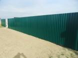 Металлический забор из профлиста с полимерным покрытием. Цена от производителя.