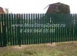Забор из штакетника из профнастила цена 1160 руб/мп