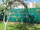 Железный забор из профнастила цена 1115 р/мп. Установка в г. Бронницы
