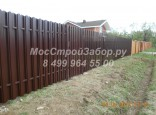 Забор из металлического штакетника в шахматном порядке. Цена от 1250 руб/мп