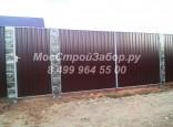 Устанавливаем декоративные заборы из профнастила. Цена с установкой от 1250 руб/мп