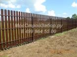 Забор из металлоштакетника с двухсторонним покрытием. Цена от 1200 руб/мп