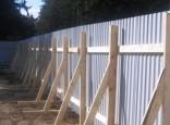 Временный забор из профлиста. Цена от 650 руб/мп.