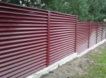 Секционный забор жалюзи