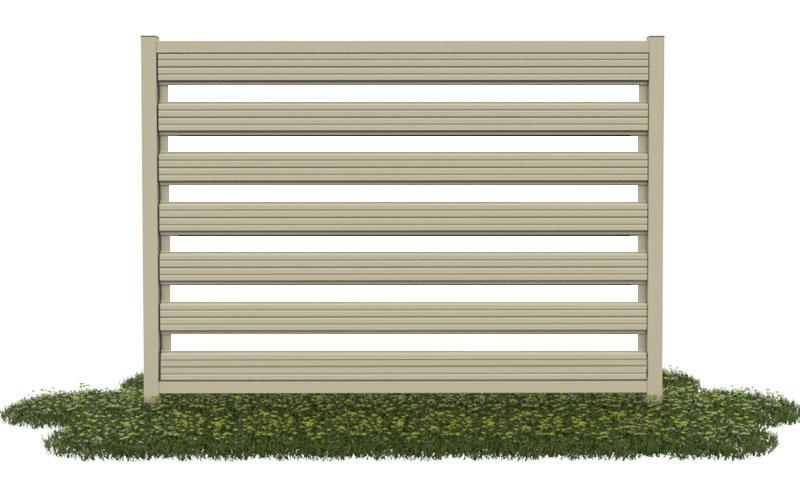 горизонтальный забор евроштакетник ранчо