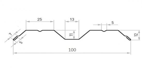 металлический штакетник м-образный размеры