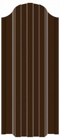 купить евроштакетник коричневый рал 8017
